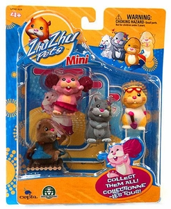 Zhu Zhu Pets Mini Figure 4-Pack Jilly, Scoodles, Num Nums & Patches