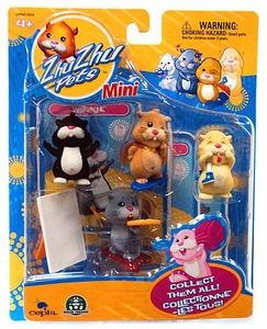 Zhu Zhu Pets Mini Figure 4-Pack Winkie, Mr. Squiggles, Pipsqueak & Yo Yo
