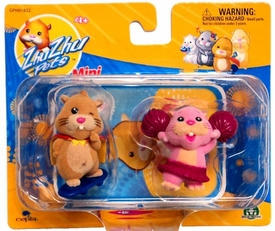 Zhu Zhu Pets Mini Figure 2-Pack Mr. Squiggles & Peachy