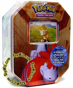 Pokemon EX 2007 Series 1 Collector Tin Set Numel with Chimchar Foil Card