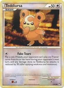 Pokemon Call of Legends Single Card Common #73 Teddiursa