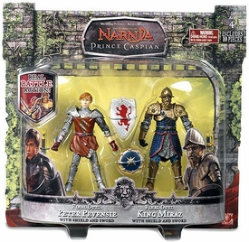 Chronicles of Narnia Prince Caspian Basic Figure 2-Pack Final Duel Peter Pevensie & King Miraz