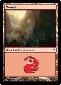 Magic: The Gathering Duel Decks: Sorin vs. Tibalt Single Card  Land #75 Mountain