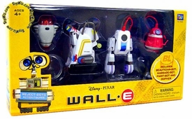 Disney Pixar Wall-E Movie Exclusive Basic Figure 4-Pack Reject Bots [Beautician-Bot, Massage-Bot, Paint-Bot & Gopher]
