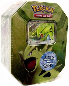 Pokemon EX 2007 Series 2 Collector Tin Set Tyranitar with Tyranitar EX Foil Card