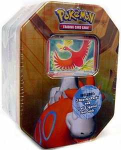 Pokemon EX 2007 Series 2 Collector Tin Set Numel with Ho-Oh EX Foil Card