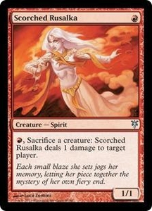 Magic: The Gathering Duel Decks: Sorin vs. Tibalt Single Card Red Uncommon #43 Scorched Rusalka