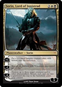 Magic: The Gathering Duel Decks: Sorin vs. Tibalt Single Card Multicolor Mythic Rare #1 Sorin, Lord of Innistrad