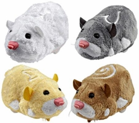 Zhu Zhu Pets Series 1 Set of 4 Hamster Toys [Squiggles, Num Nums, Chunk & Pipsqueak]