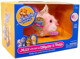 Zhu Zhu Pets Hamster Toy Jilly with Clip On Dress & Tiara