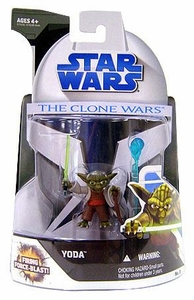Star Wars 2008 Clone Wars Animated Action Figure No. 3 Yoda