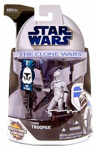 Star Wars 2008 Clone Wars Animated Action Figure No. 5 Clone Trooper [First Day of Issue]