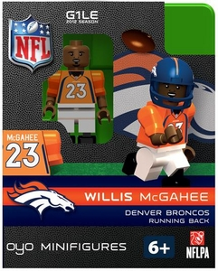 OYO Football NFL Building Brick Minifigure Willis McGahee [Denver Broncos]