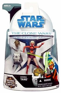 Star Wars 2008 Clone Wars Animated Action Figure No. 9 Ahsoka Tano with Rotta the Hutt