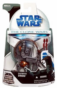 Star Wars 2008 Clone Wars Animated Action Figure No. 17 Destroyer Droid