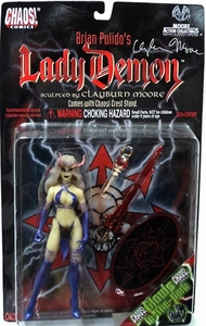 Moore Action Collectibles Chaos Comics Action Figure Lady Demon [Autographed by Clayburn Moore]