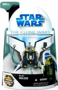 Star Wars 2008 Clone Wars Animated Action Figure No. 23 R3-SG Goldie
