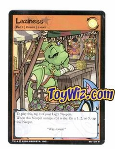 Neopets Trading Card Game Lost Desert Single Card Uncommon 58/100 Laziness