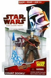 Star Wars 2009 Clone Wars Animated Action Figure CW No. 27 Count Dooku with Asajj Ventress Hologram