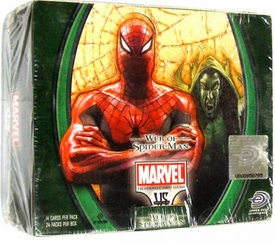Marvel VS System Trading Card Game Web of Spider-Man Booster Box [24 Packs]