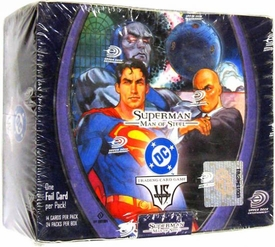DC VS System Trading Card Game Superman Man of Steel Booster BOX [24 Packs]