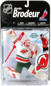 McFarlane Toys NHL Sports Picks Series 22 [2009 Wave 2] Action Figure Martin Brodeur (New Jersey Devils) Retro White Jersey Variant Super Chase Only 552 Made!