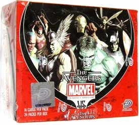 Marvel VS System Trading Card Game Avengers Booster Box [24 Packs]