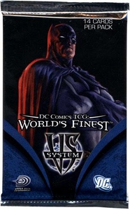 DC VS System Trading Card Game World's Finest Booster Pack [14 Cards]