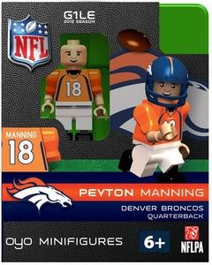 OYO Football NFL Building Brick Minifigure Peyton Manning [Denver Broncos]