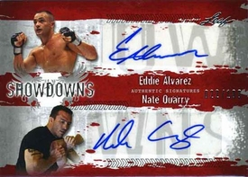 MMA Leaf 2010 Series Duel Autographed Showdown Insert Card ES1/NQ1 Eddie Alvarez Vs. Nate Quarry 49/100