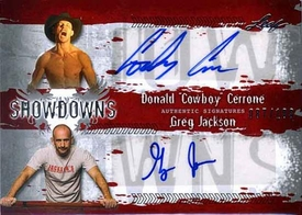 MMA Leaf 2010 Series Duel Autographed Showdown Insert Card DC1/GJ1 Donald