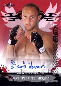 MMA Leaf 2010 Series Autographed Insert Card AV-DH1 Dave