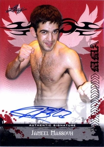 MMA Leaf 2010 Series Autographed Insert Card AV-JM1 Jameel Massouh