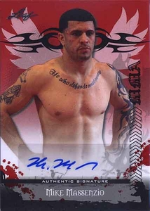 MMA Leaf 2010 Series Autographed Insert Card AV-MM2 Mike Massenzio
