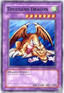 YuGiOh Dark Legends Single Card Common DLG1-EN050 Thousand Dragon