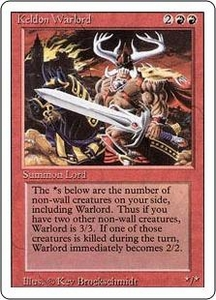 Magic the Gathering Revised Edition Single Card Uncommon Keldon Warlord