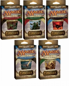Magic the Gathering Conflux Set of 5 Theme Deck Intro Packs