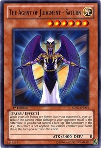 YuGiOh 5D's Structure Deck Lost Sanctuary Single Card Common SDLS-EN004 The Agent of Judgment - Saturn