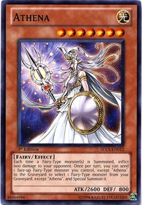 YuGiOh 5D's Structure Deck Lost Sanctuary Single Card Common SDLS-EN012 Athena