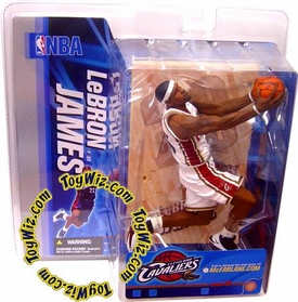 McFarlane Toys NBA Sports Picks Series 10 Action Figure LeBron James (Cleveland Cavaliers) White Jersey Variant