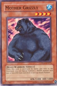 YuGiOh Dark Legends Single Card Common DLG1-EN074 Mother Grizzly