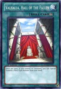 YuGiOh 5D's Structure Deck Lost Sanctuary Single Card Common SDLS-EN024 Valhalla, Hall of the Fallen