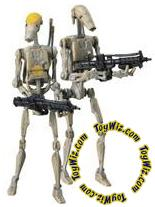 Star Wars 30th Anniversary Saga 2007 Legends Action Figure #09 Battle Droid & Battle Droid Commander [Yellow Stripe]