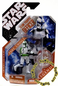Star Wars 30th Anniversary Saga 2007 Legends Action Figure #21 Clone Trooper Officer [Green]