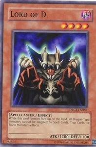 YuGiOh Dark Legends Single Card Common DLG1-EN087 Lord of D.