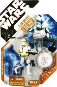 Star Wars 30th Anniversary Saga 2007 Legends Action Figure #21 Clone Trooper Officer [Yellow]
