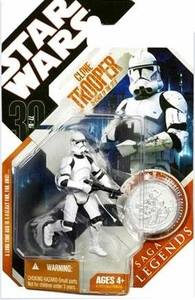 Star Wars 30th Anniversary Saga 2007 Legends Action Figure #07 Episode III Clone Trooper