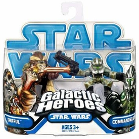 Star Wars 2009 Galactic Heroes Mini Figure 2-Pack Tarfull & Commander Gree