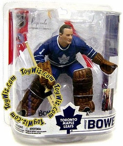 McFarlane Toys NHL Sports Picks Legends Series 6 Action Figure Johnny Bower (Toronto Maple Leafs) Blue Jersey