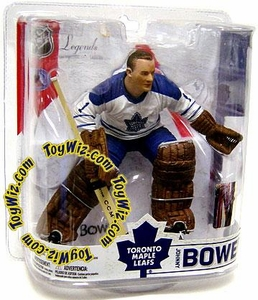 McFarlane Toys NHL Sports Picks Legends Series 6 Action Figure Johnny Bower (Toronto Maple Leafs) White Jersey Variant